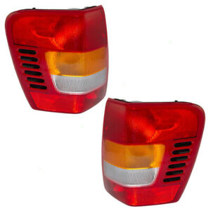 Pair Tail Lights For 99 02 Jeep Grand Cherokee Tail Lamps With Circuit Board Set