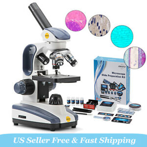 Swift 40x 1000x Biology Science Student Compound Microscope W 66 Experiment Kit