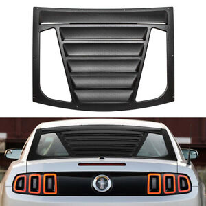 Retro Rear Window Louver Scoop Sun Shade Light Weight For 2005 2014 Ford Mustang
