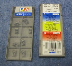 Iscar Carbide Inserts Hm90 Apkt 1003pdr Grade Ic908 Sealed Pack Of 10