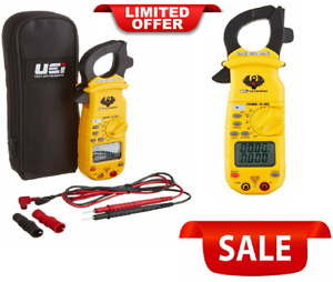 Digital Clamp on Meter With Test Leads Pouch Non contact Voltage Corded Electric