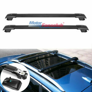 Top Roof Rack Luggage Cross Bar W Key For Jeep Cherokee 2014 17 2015 2016 2017