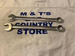 Vintage Snap on Tools Pair 12pt Standard Metric Combination Wrenches 14