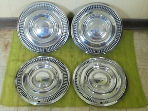 1963 Oldsmobile Hub Caps 14 Set Of 4 Olds Wheel Covers 63 Hubcaps
