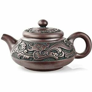 Yixing Teapots Zisha Purple Clay 10 14oz Supreme Bronze Collection Fully