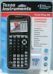 Texas Instruments Ti 84 Plus Ce Graphing Calculator Black New In Box