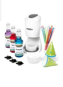 Hawaiian Shaved Ice Machine And Syrup 3 Flavor Party Package New