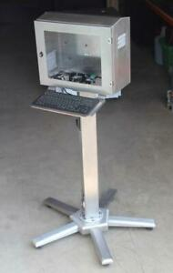 Mobile Stainless Hmi Interface Panel Industrial Enclosure Computer Workstation