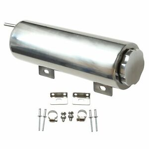 32oz Stainless Steel 3 X 10 Polished Radiator Coolant Overflow Catch Can Tank