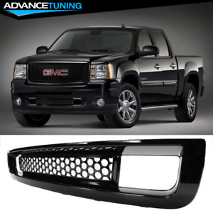 Fits 07 13 Gmc Sierra 1500 Front Lower Grille Abs Gloss Black