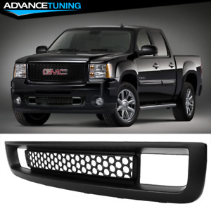 Fits 07 13 Gmc Sierra 1500 Front Lower Grill Grille Matte Black