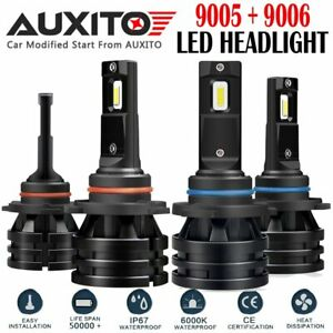4x Auxito 9005 9006 12000lm Ultra White Led Headlight Kit High Low Beam Bulbs Ea
