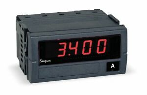 Simpson Electric Digital Panel Meter Ac Current Includes Instructions