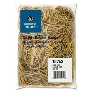 Rubber Bands Size 33 3 1 2 X 1 8 X 1 32 Inches Business Source 15743 1 Lb