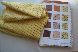 Vtg Antique 1800 S Cotton Fabric Quilt Dress Chrome Yellow Turkey Red Hearts