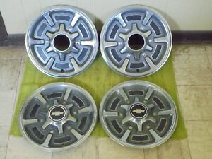 77 88 Chevy 4x4 Truck 15 Hubcaps Set Of 4 K10 Wheel Covers 1 2 Ton