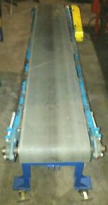15 X 7 New London Brand Powered Belt Conveyor With Variable Speed Drive