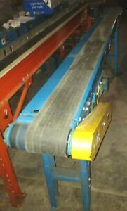 10 X 11 Hytrol Brand Powered Belt Conveyor With Variable Speed Drive Works