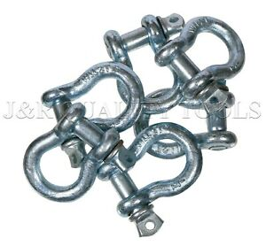 10 Pack 1 2 Bow Shackle Clevis Screw Pins Anchor Rigging 2 Ton