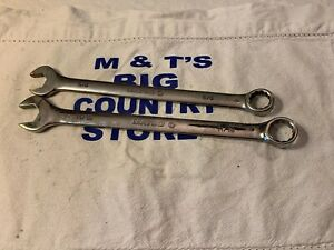 Matco Tools 2pc 12pt Sae Combination Wrench Set Rcl202 5 8 Rcl222 11 16