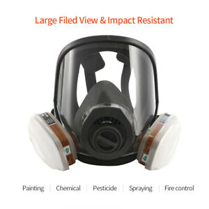 4007 Series Dust Full Face For Protection From Chemicals Harm Gas Mask Z0c4