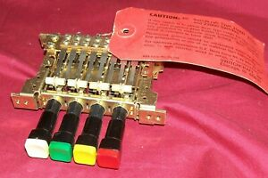 Nos Old Switchcraft 4 Station Push Button Multiple Pushbutton Bank Multi switch