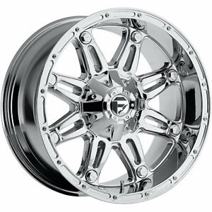 20x10 Chrome Fuel Hostage 6x135 6x5 5 24 Wheels Open Country Mt 35 Tires