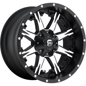 4 20x10 Black Machined Nutz 6x135 6x5 5 24 Rims Terra Grappler G2 Tires
