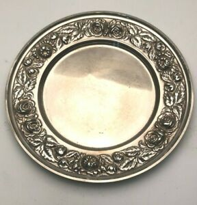 S Kirk Son Repousse Sterling Silver Bread Plate 525 P