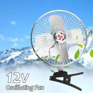 Portable 8 12v Electric Car Fan 12v Vehicle Truck Oscillating Cooling Fan