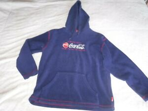 Feleece Coca Cola Size LArge Hoodie Sweat Shirt Pre Owned