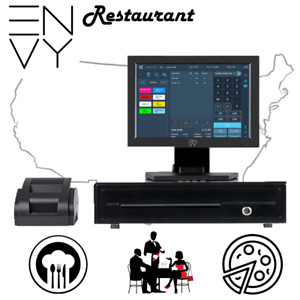 12in Touchscreen Pos Cash Register Till System Restaurant Pizza Italian Burgers