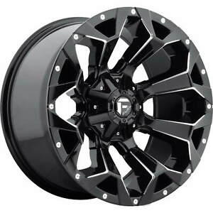 4 20x10 Gloss Black Assault 5x5 5 5x150 18 Wheels Terra Grappler G2 Tires