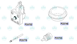 Foot Control Valve Kit Pck780 For Pelton Crane Spirit Series Ec Ii Iie