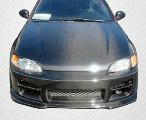 Carbon Fiber Oe Style Hood For Civic Honda 92 95 Carbon Creations Ed21010