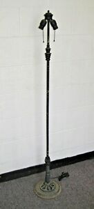 Antique Art Deco Floor Lamp Double Socket Vintage 55 Inches