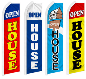 Open House Advertising Flutter Feather Flag Swooper Banner Real Estate Property