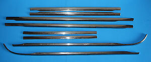 1955 Mercury Oem 4dr Door Fender Moulding upper 8pcs W mounting Hardware