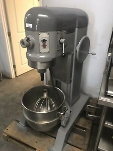 Hobart 60 Qt H600 Mixer Stainless Bowl And Hook 208v 3 Phase