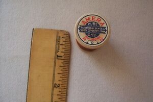 1 Vtg Antique Wooden Spool Sewing Silk Thread Amera The National Silk Co