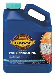 Cabot Flat Sealer For Brick Concrete Stone Wood Crystal Clear 1 Gal 1 Gal