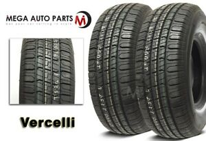2 New Vercelli 787 P215 75r14 98s Wsw All Season Tires