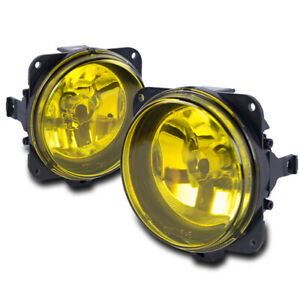 00 05 Ford Focus Svt 03 07 Mustang Cobra Escape Bumper Driving Yellow Fog Lights