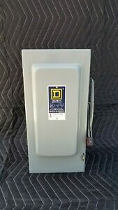 Square D Safety Switch H362 3 Pole 60 Amp 600 Vac Type 1 Enclosure Fusible