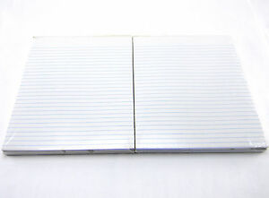 Lot Of 2 Perforated Pads Wide Ruled White 8 1 2 X 11 3 pack 100 Sheets pad