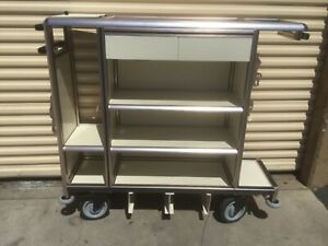 100 New Sorol Service Trolley For Cruise Ship Hotel Housekeeping Cart 160k Value
