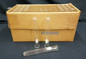 New Old Stock Box Of 66 Glass Kimble Glass Kimax Test Tubes With Lip