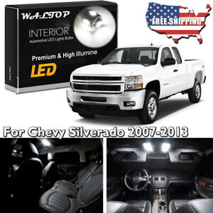 18pc White Led Interior Lights Package Kit For 07 13 Chevy Silverado Gmc Sierra