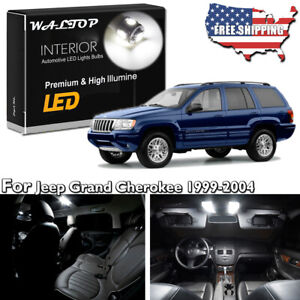 18pc White Led Interior Lights Package Kit For 1999 2004 Jeep Grand Cherokee Wj