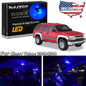 20pc Blue Led Interior Lights Package Kit For 2000 2004 2005 2006 Chevy Tahoe